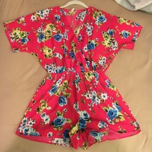 Colorful Floral Romper